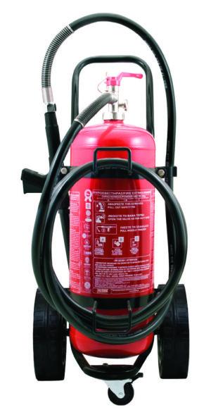 Τροχήλατος Πυροσβεστήρας 25Kg Ξηράς Σκόνης