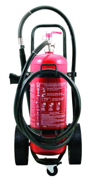Τροχήλατος Πυροσβεστήρας 100Kg Ξηράς Σκόνης