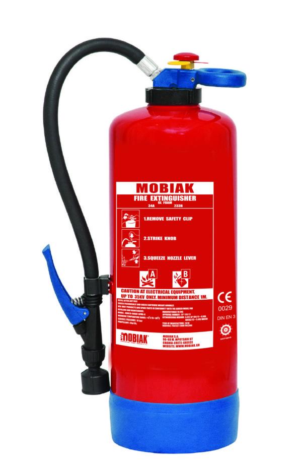 Πυροσβεστήρας Αφρού 6Lt με Επικρουστήρα