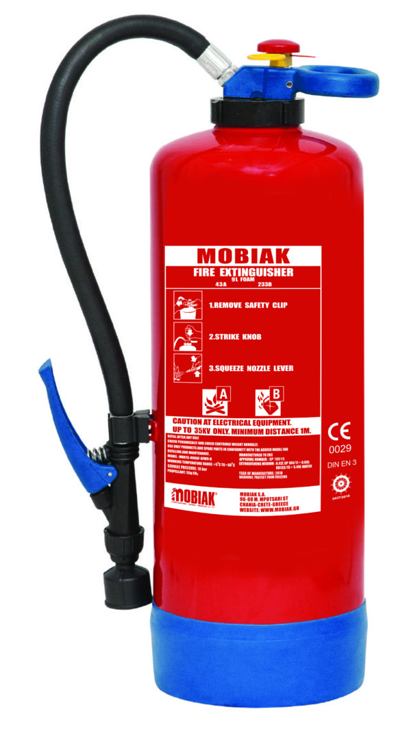 Πυροσβεστήρας Αφρού 9Lt με Επικρουστήρα