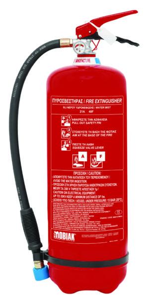 Πυροσβεστήρας 9Lt Υδρονέφωσης